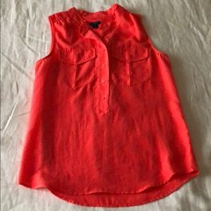 J Crew Coral/Orange blouse